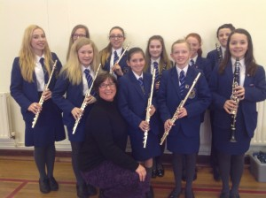 Junior woodwind class